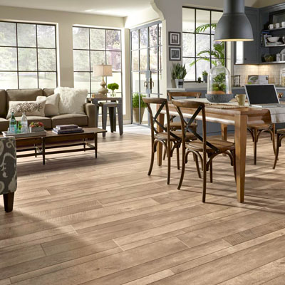 Laminate flooring offers a wide selection of designs