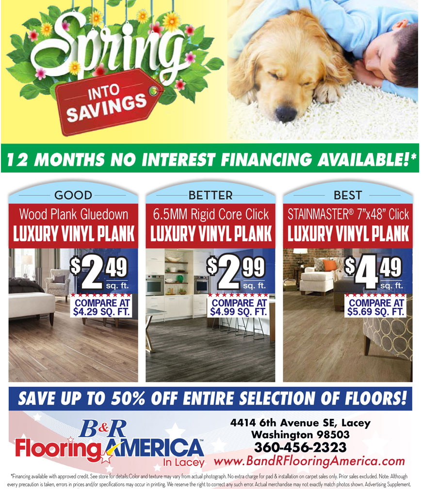 B And R Flooring America Carries A Wide Selection Of Vinyl Tile And
